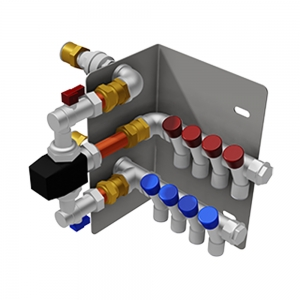 Water blending & distribution manifold, TMV3 thermostatic mixing valve