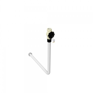 Electronically operated WC pan direct acting flush valve